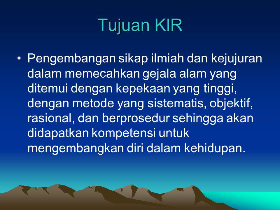Tujuan KIR