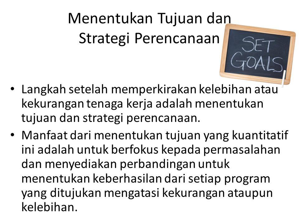 Menentukan Tujuan dan Strategi Perencanaan