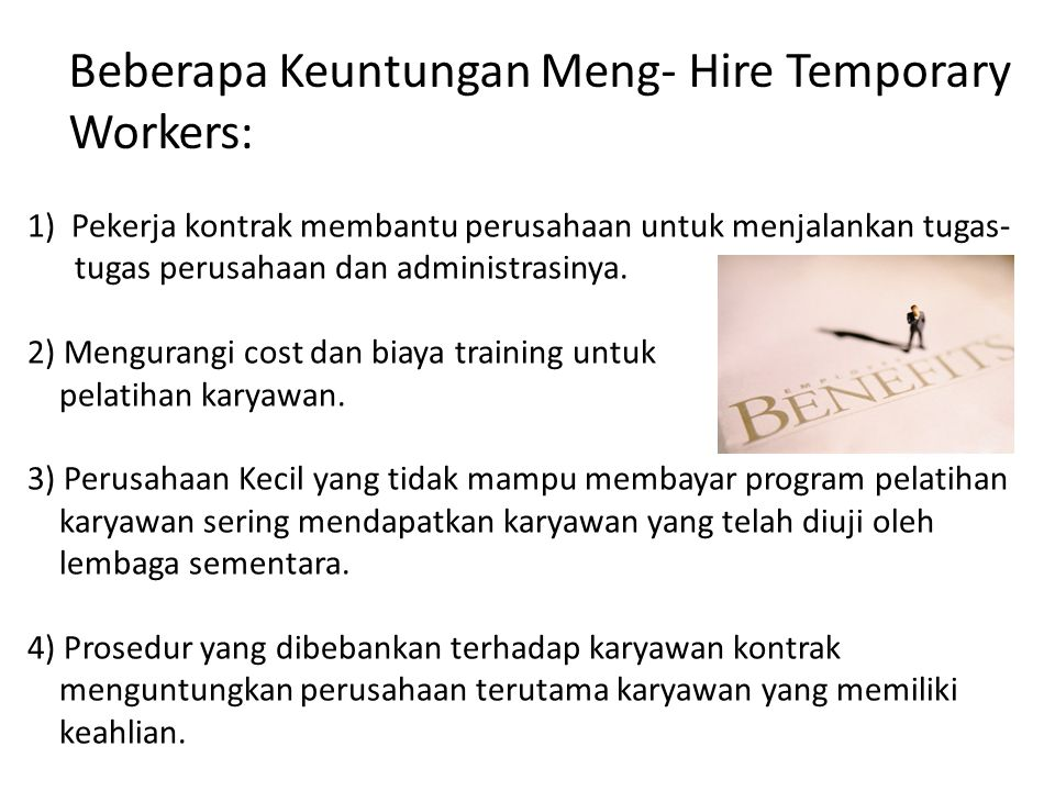 Beberapa Keuntungan Meng- Hire Temporary Workers: