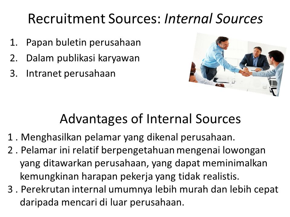 Recruitment Sources: Internal Sources