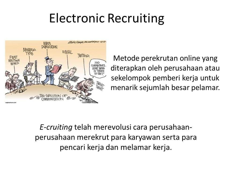 Electronic Recruiting