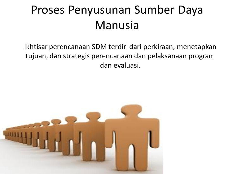 Proses Penyusunan Sumber Daya Manusia