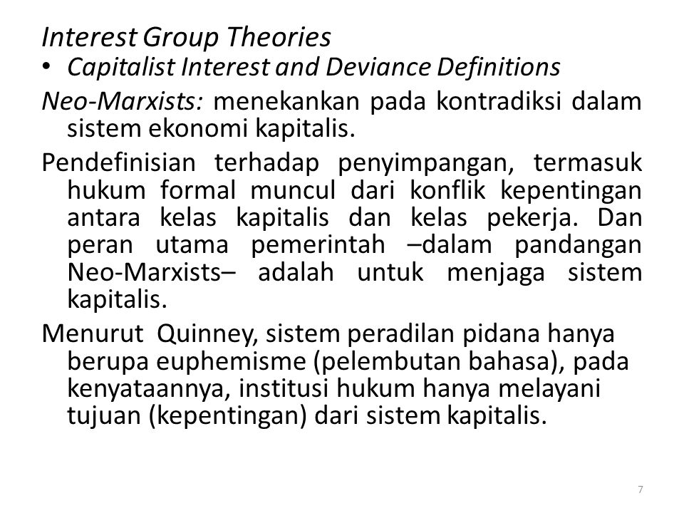 Interest Group Theories