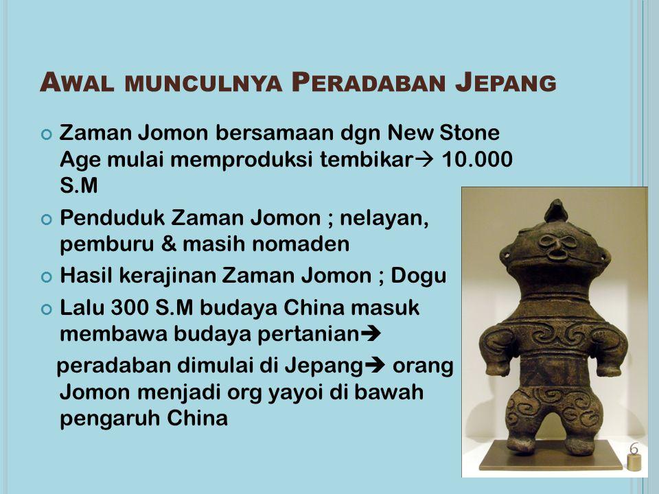 Awal munculnya Peradaban Jepang