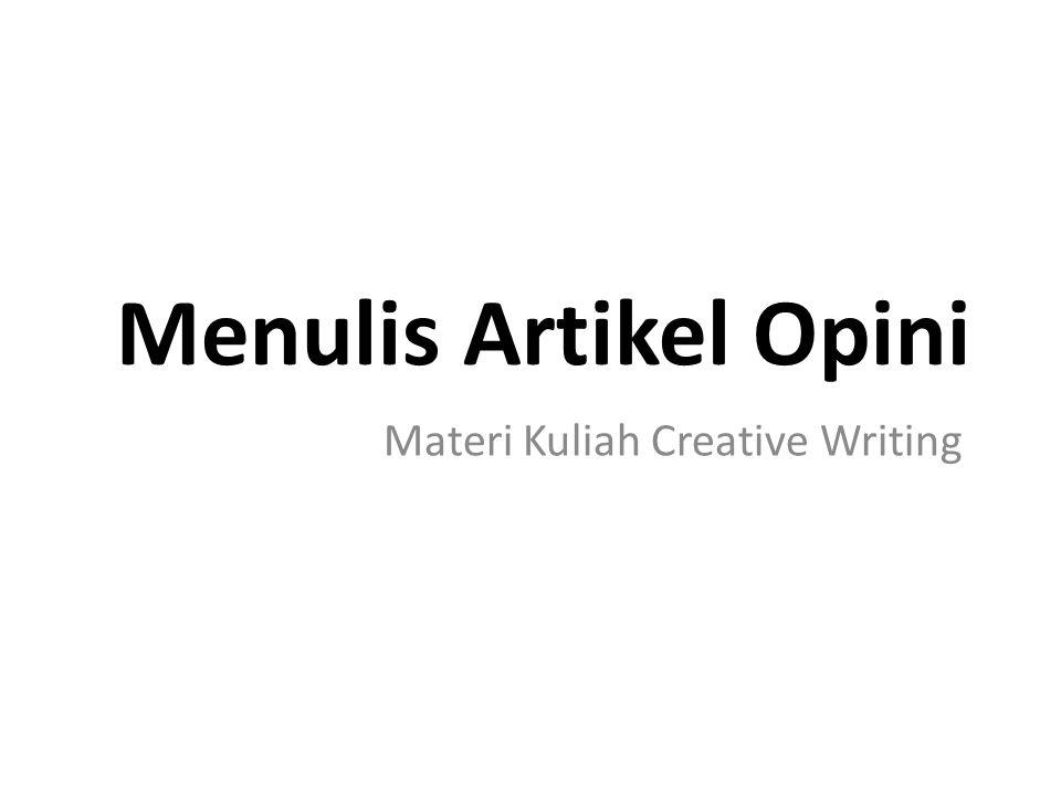 Materi Kuliah Creative Writing