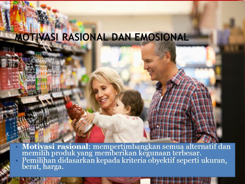 MOTIVASI RASIONAL DAN EMOSIONAL