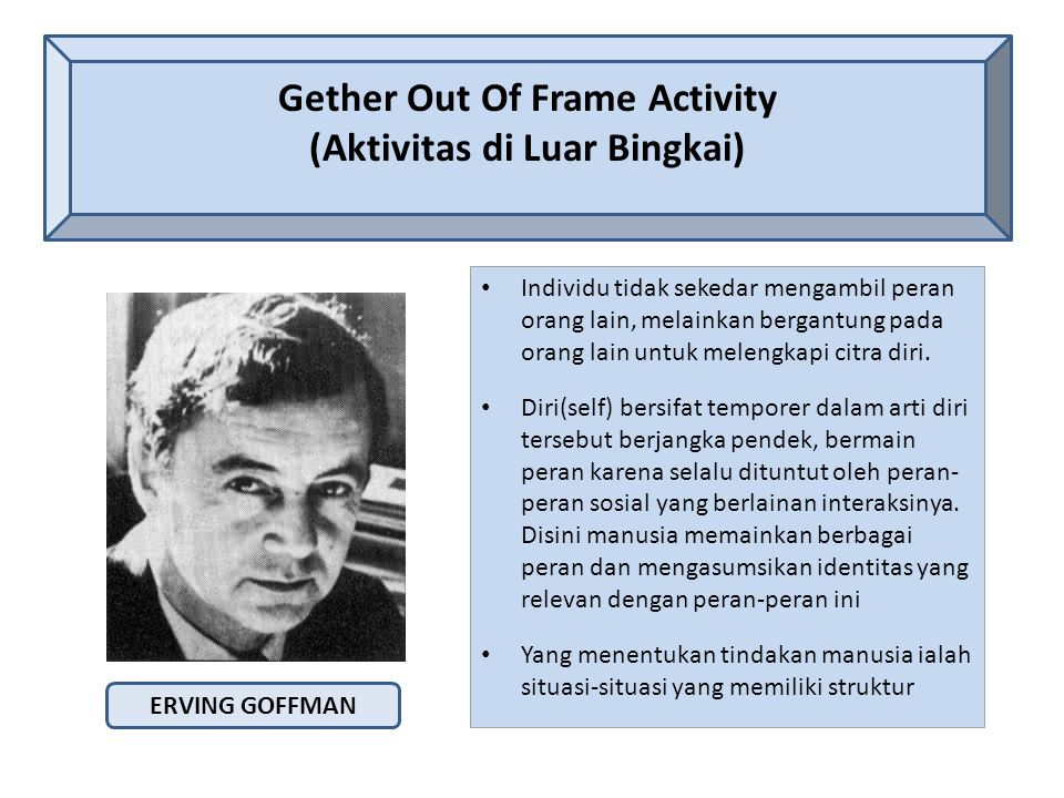 Gether Out Of Frame Activity (Aktivitas di Luar Bingkai)
