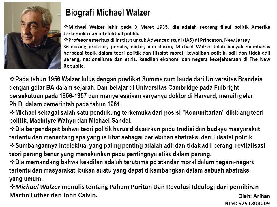 Biografi Michael Walzer