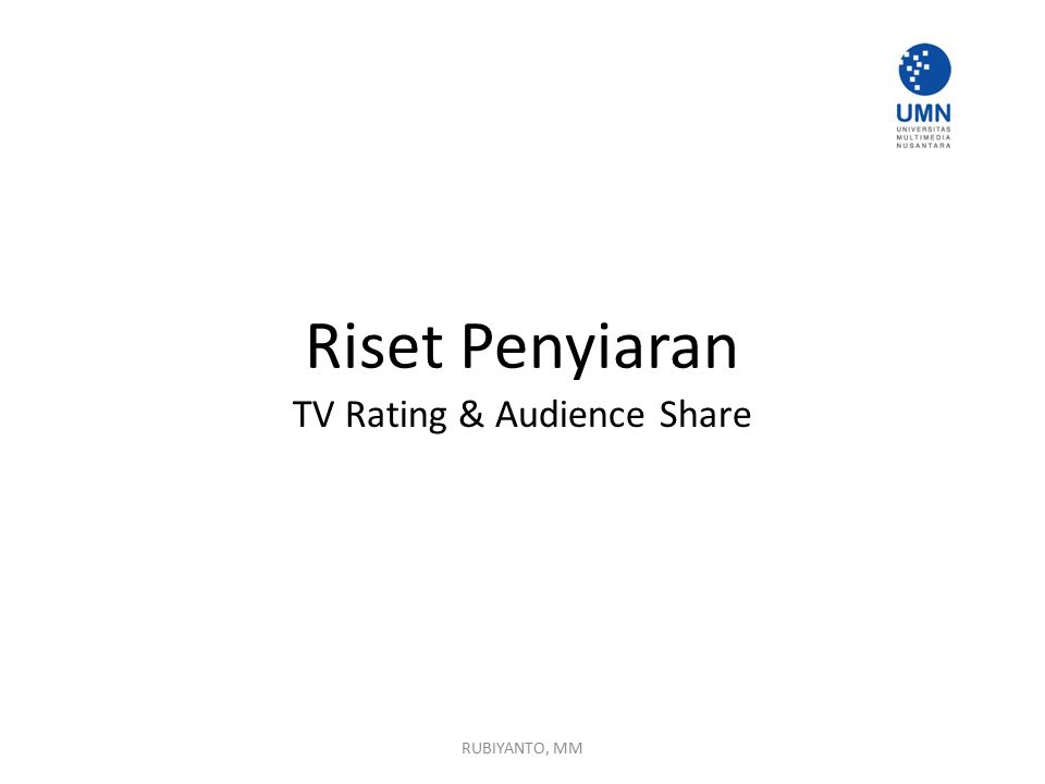 TV Rating & Audience Share