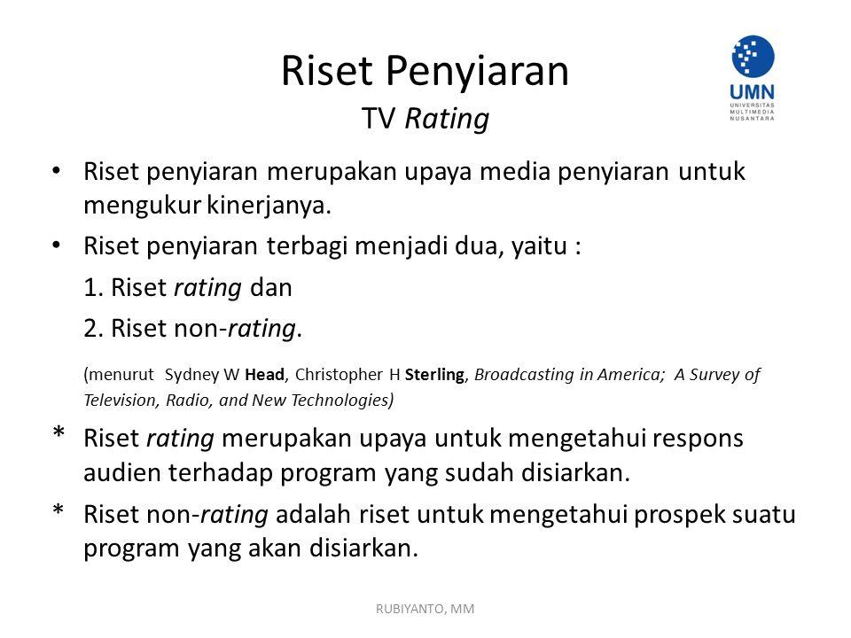 Riset Penyiaran TV Rating