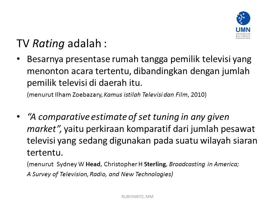 TV Rating adalah :
