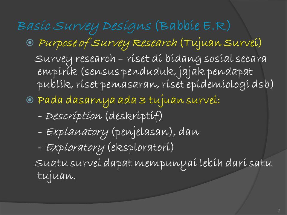 Basic Survey Designs (Babbie E.R)