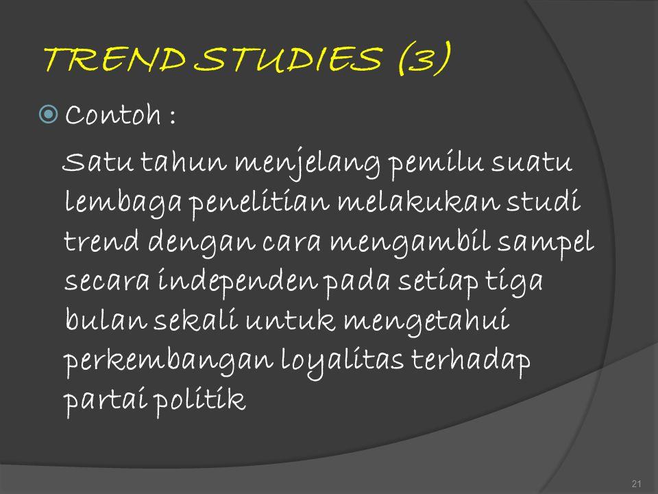 TREND STUDIES (3) Contoh :