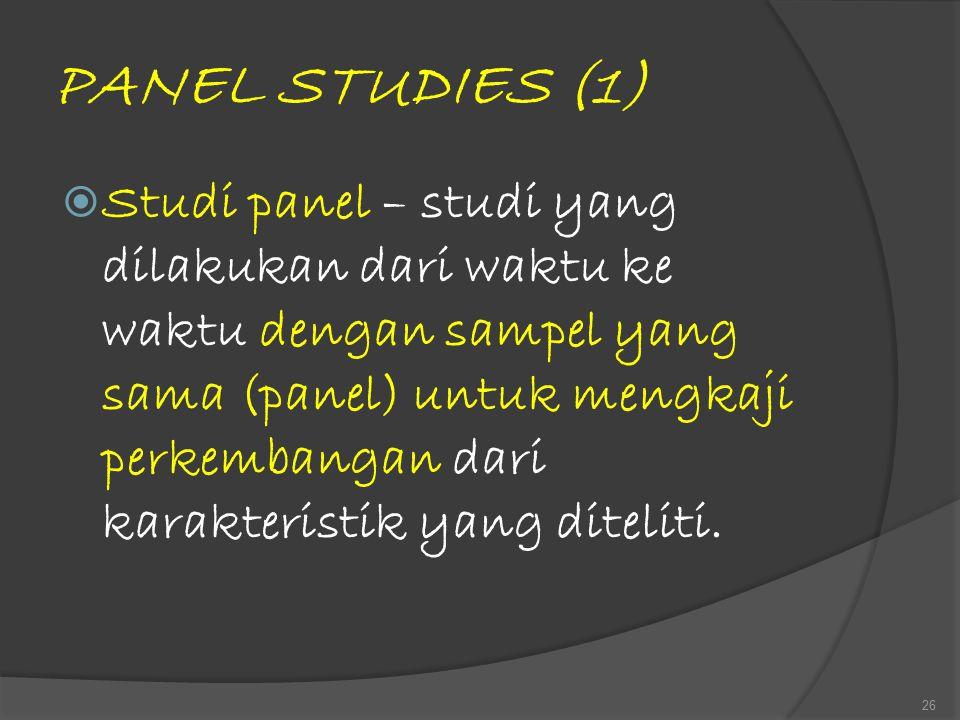 PANEL STUDIES (1)
