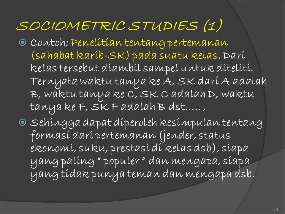 SOCIOMETRIC STUDIES (1)