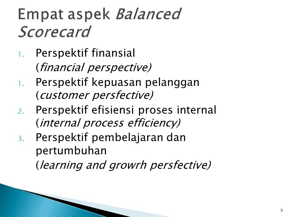 Empat aspek Balanced Scorecard