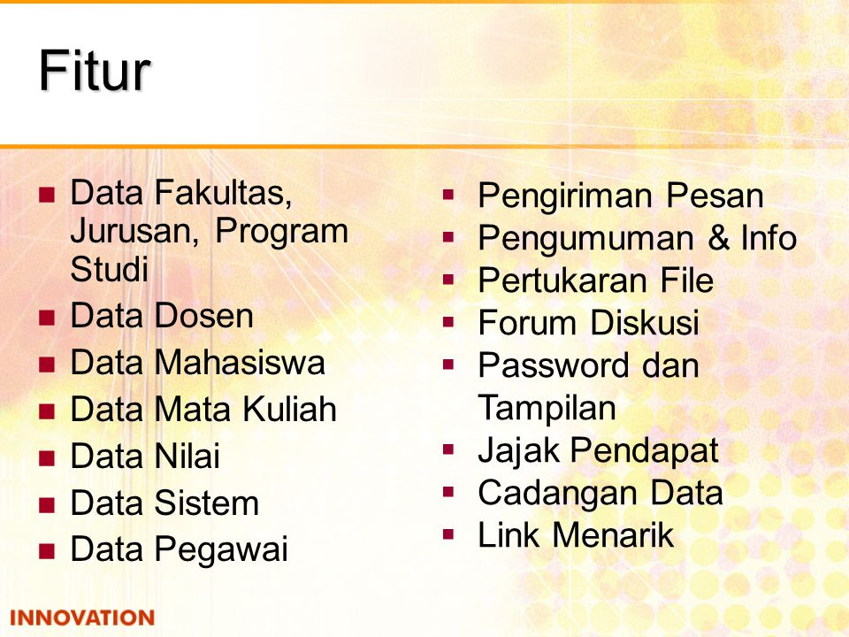 Fitur Data Fakultas, Jurusan, Program Studi Pengiriman Pesan