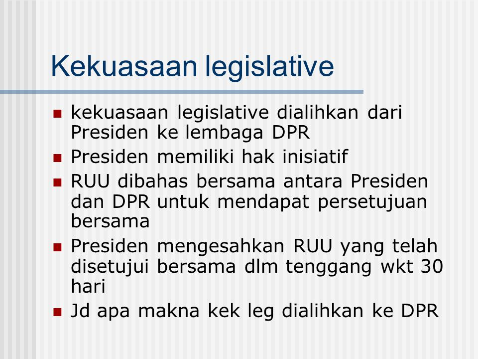 Kekuasaan legislative