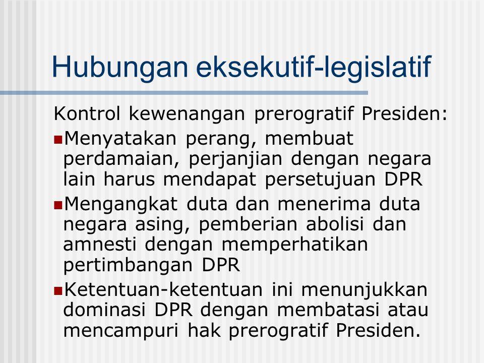 Hubungan eksekutif-legislatif
