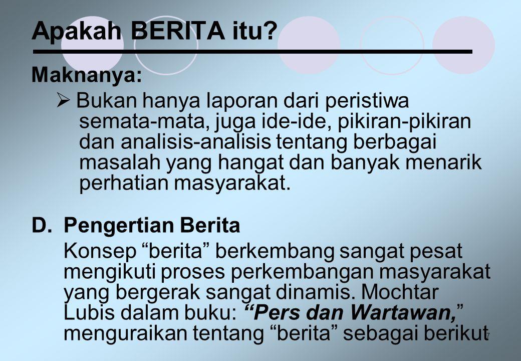 Apakah BERITA itu Maknanya: