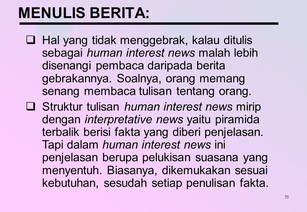 MENULIS BERITA: