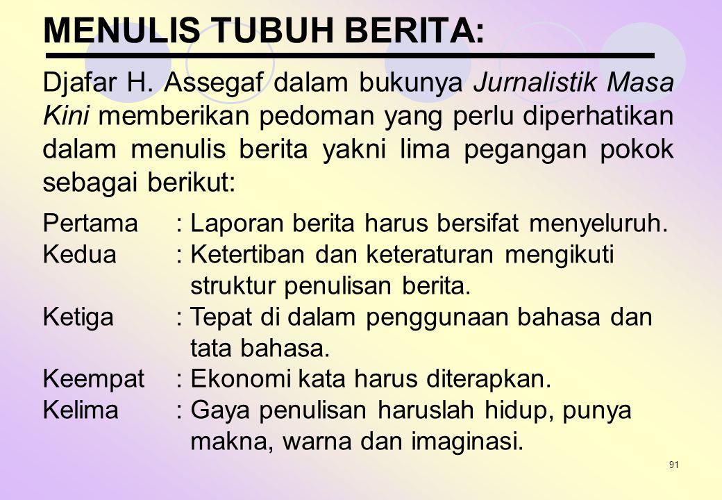 MENULIS TUBUH BERITA: