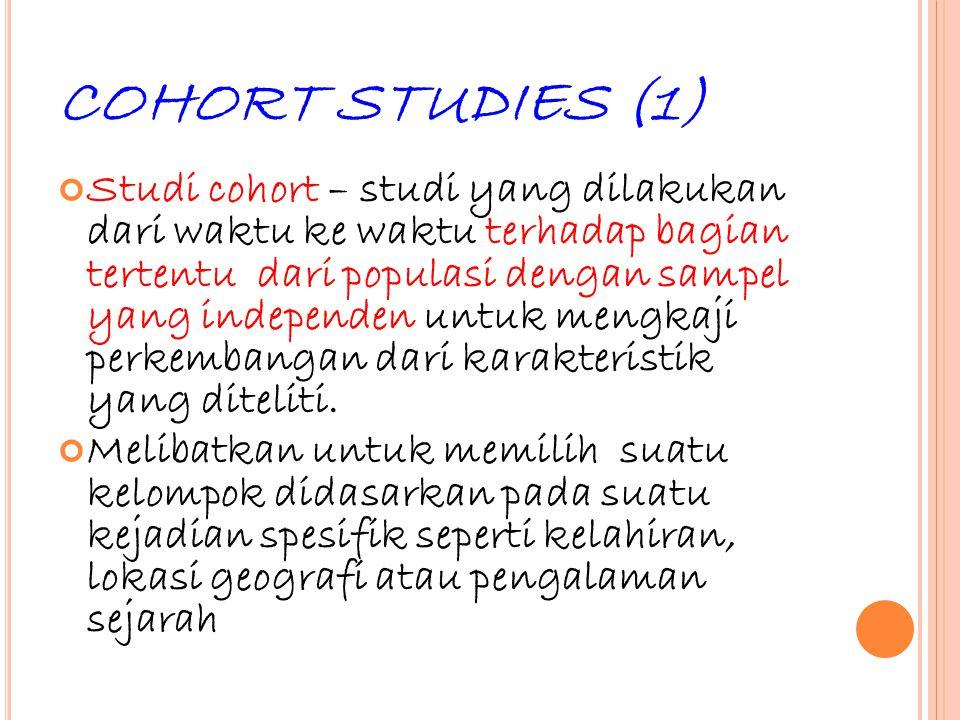 COHORT STUDIES (1)
