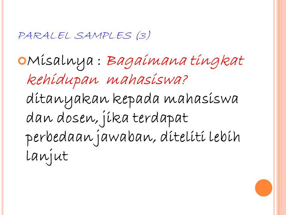 PARALEL SAMPLES (3)