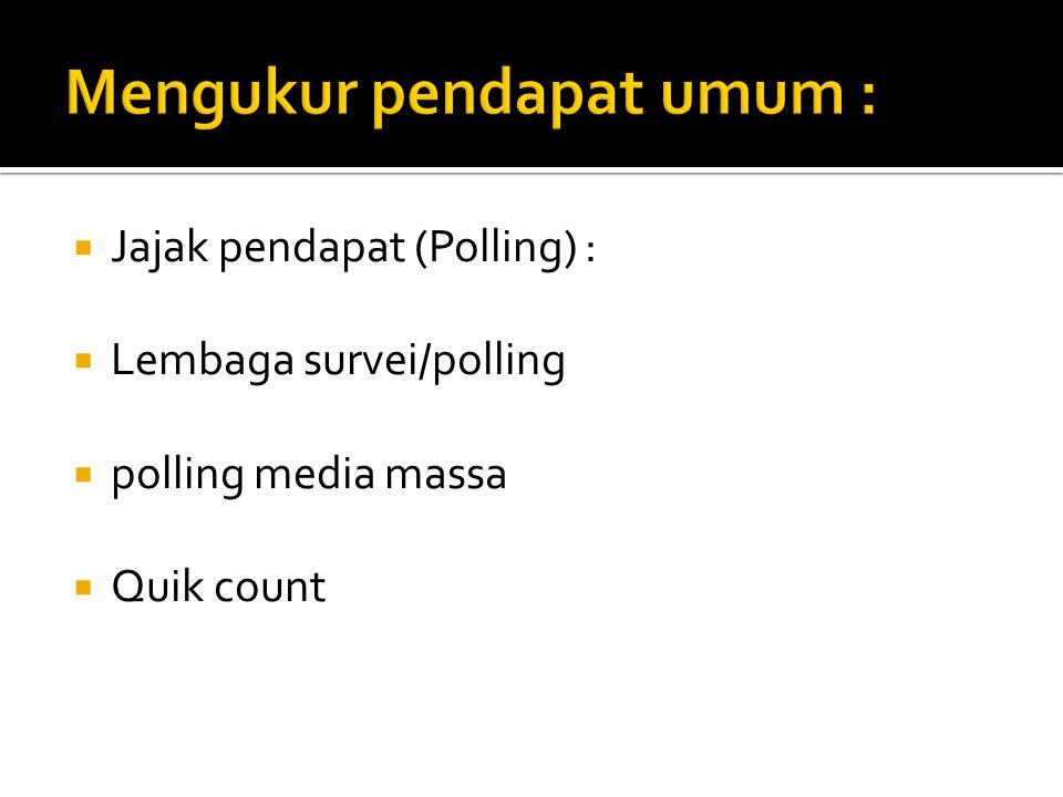 Mengukur pendapat umum :