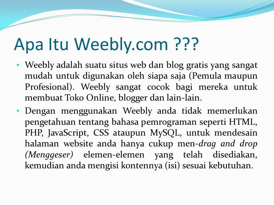 Apa Itu Weebly.com