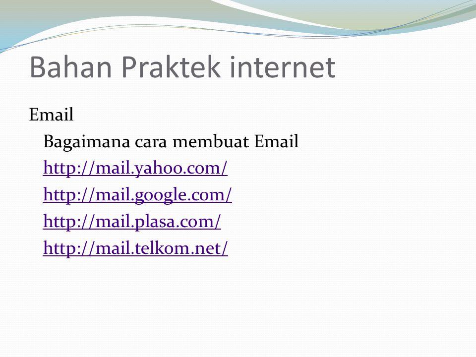Bahan Praktek internet