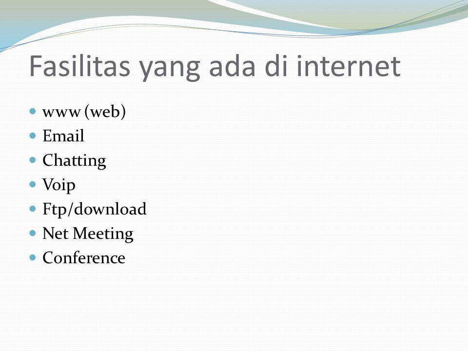 Fasilitas yang ada di internet