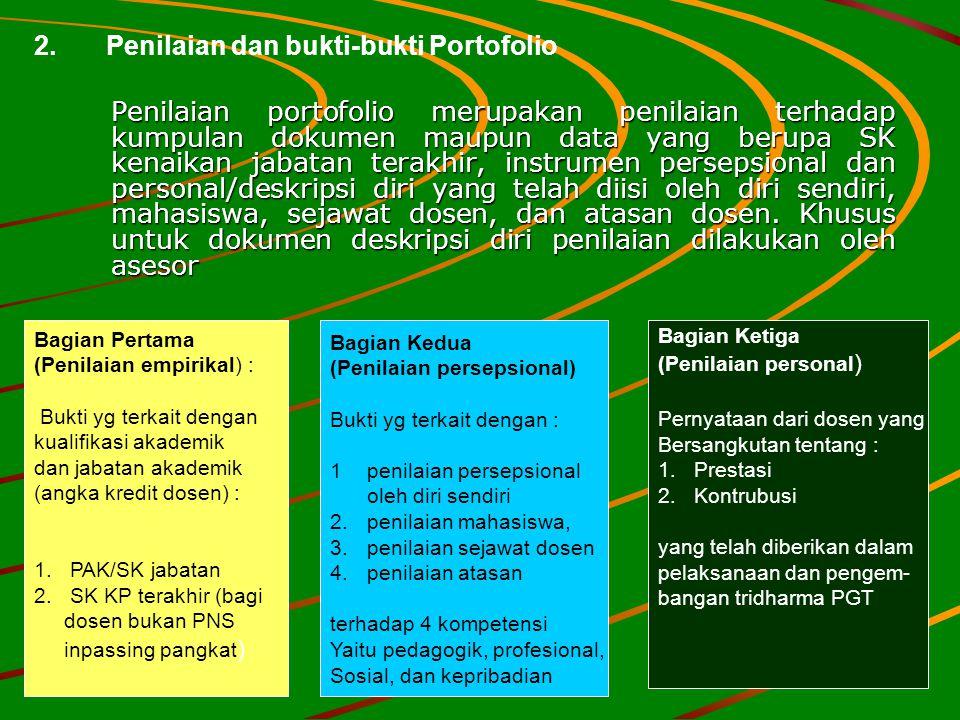 2. Penilaian dan bukti-bukti Portofolio