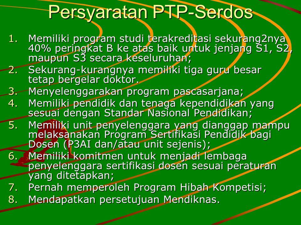 Persyaratan PTP-Serdos