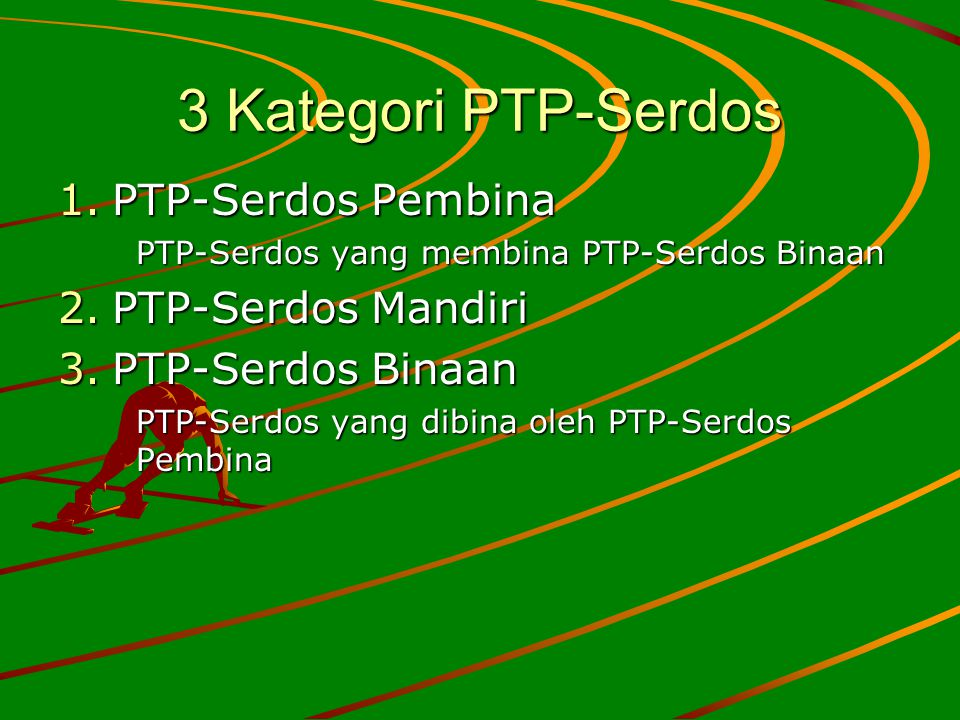 3 Kategori PTP-Serdos PTP-Serdos Pembina PTP-Serdos Mandiri