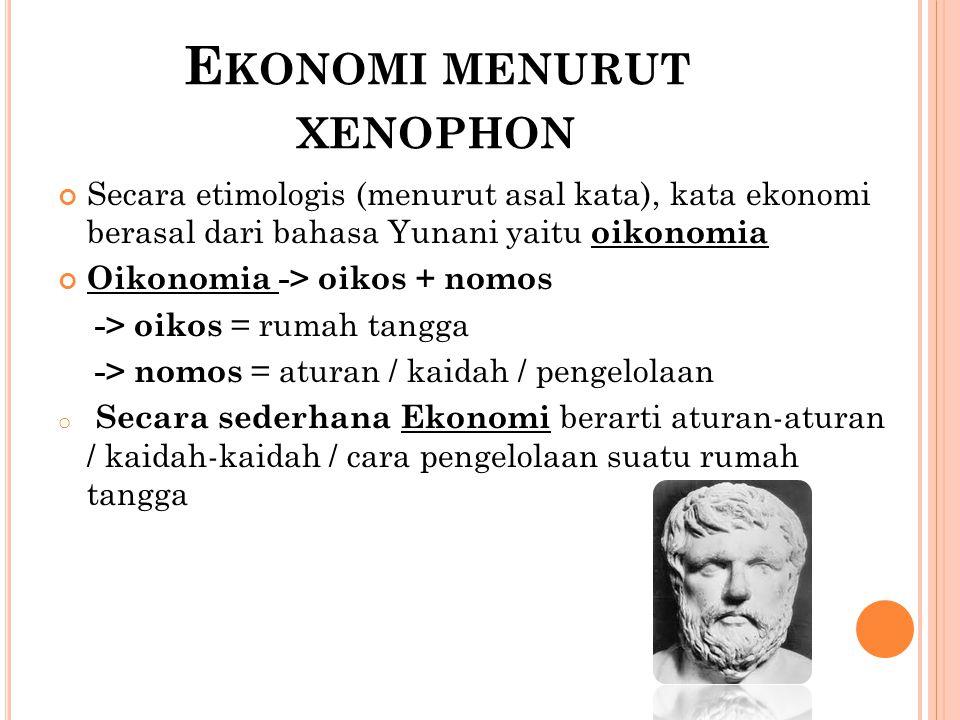 Ekonomi menurut xenophon