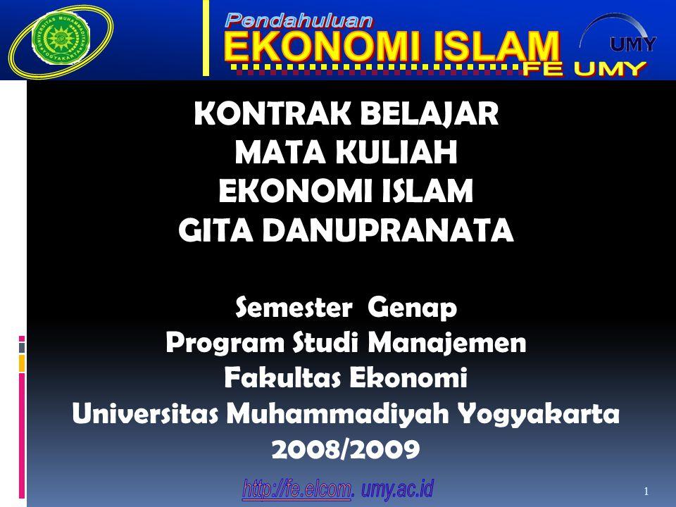 KONTRAK BELAJAR MATA KULIAH EKONOMI ISLAM GITA DANUPRANATA
