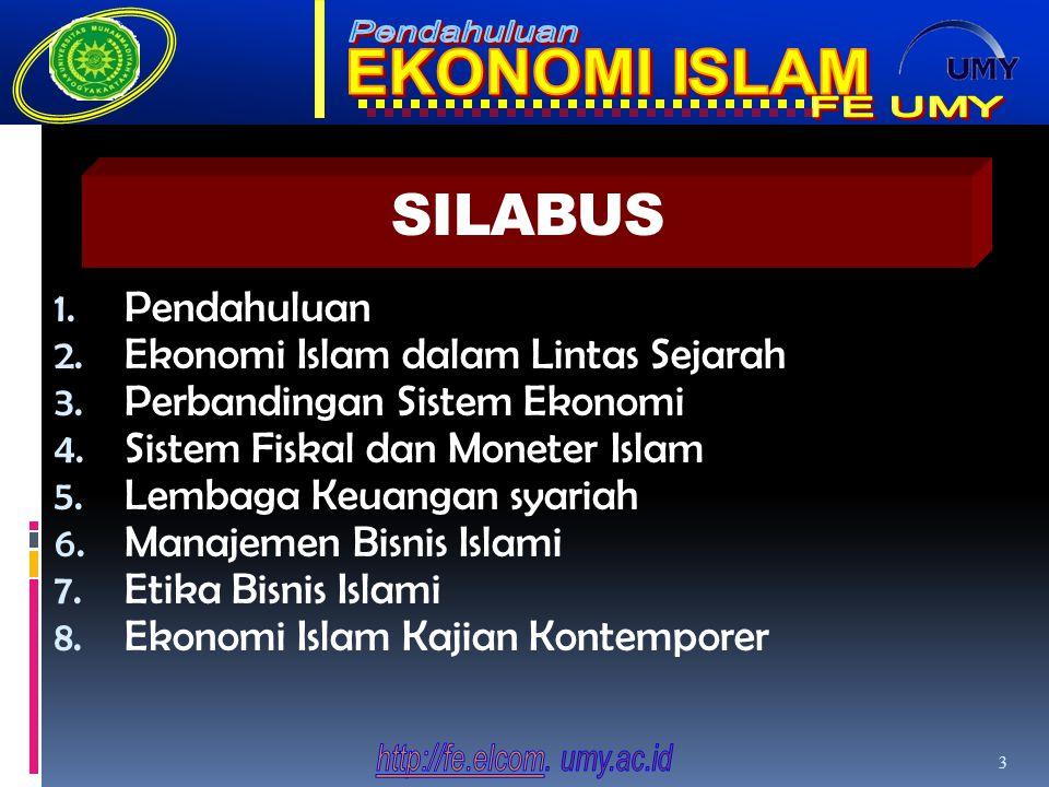 SILABUS Pendahuluan Ekonomi Islam dalam Lintas Sejarah