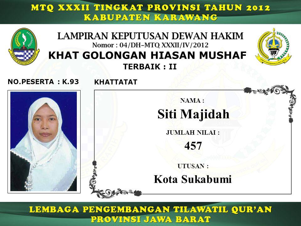 Siti Majidah 457 Kota Sukabumi KHAT GOLONGAN HIASAN MUSHAF