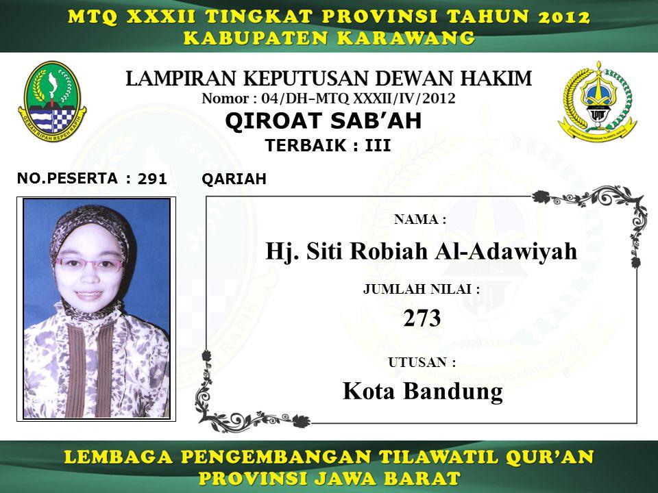 Hj. Siti Robiah Al-Adawiyah