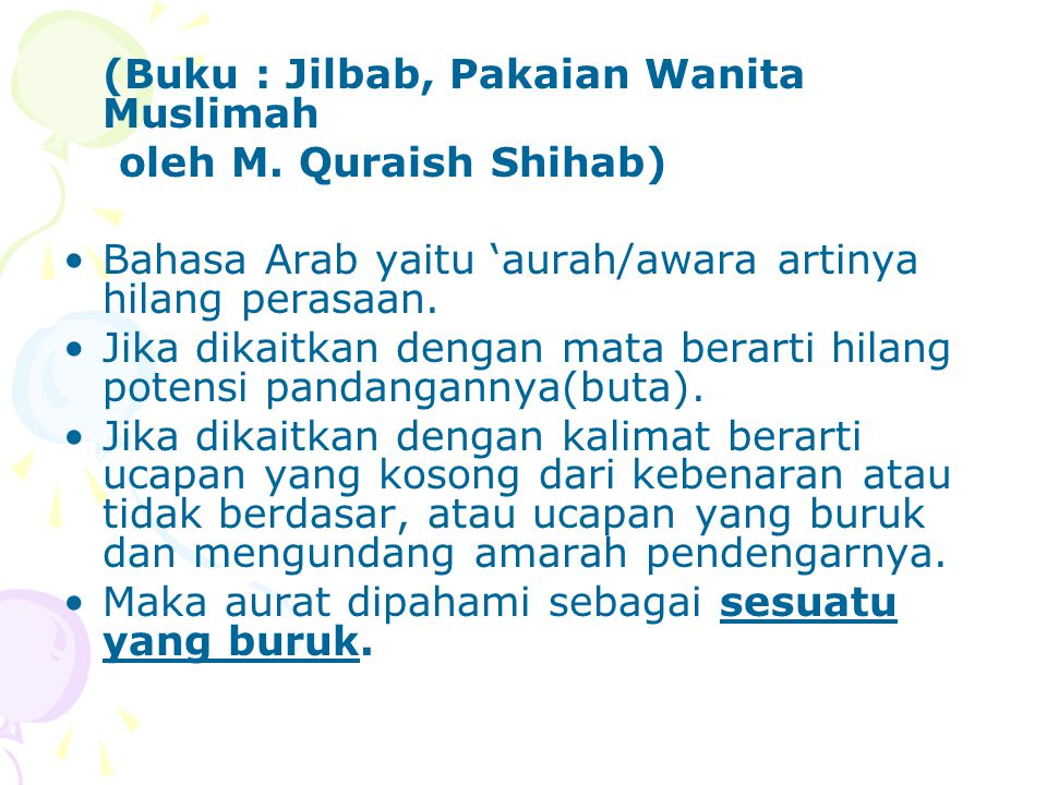 (Buku : Jilbab, Pakaian Wanita Muslimah