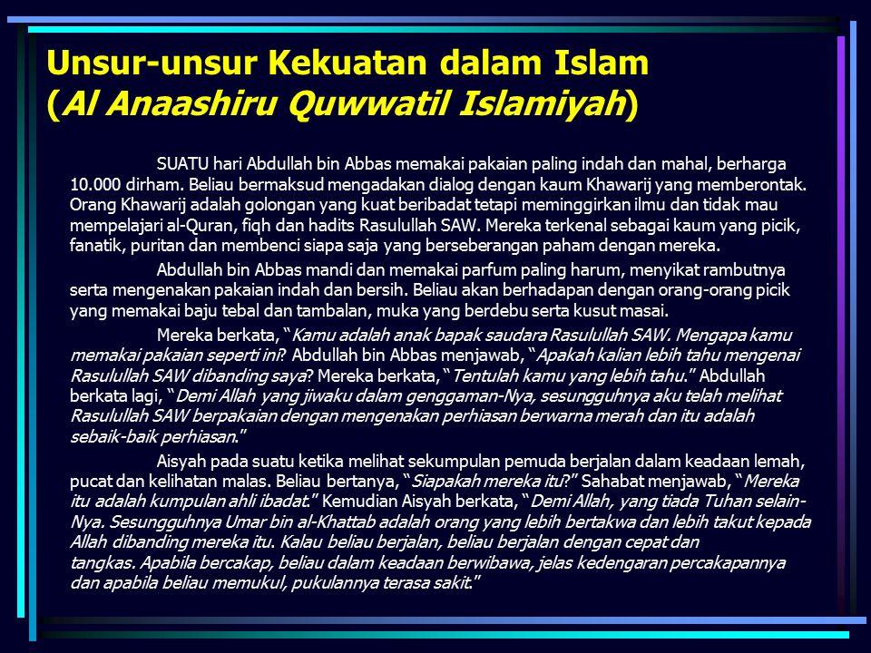 Unsur-unsur Kekuatan dalam Islam (Al Anaashiru Quwwatil Islamiyah)