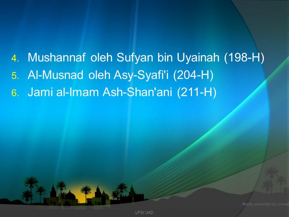 Mushannaf oleh Sufyan bin Uyainah (198-H)