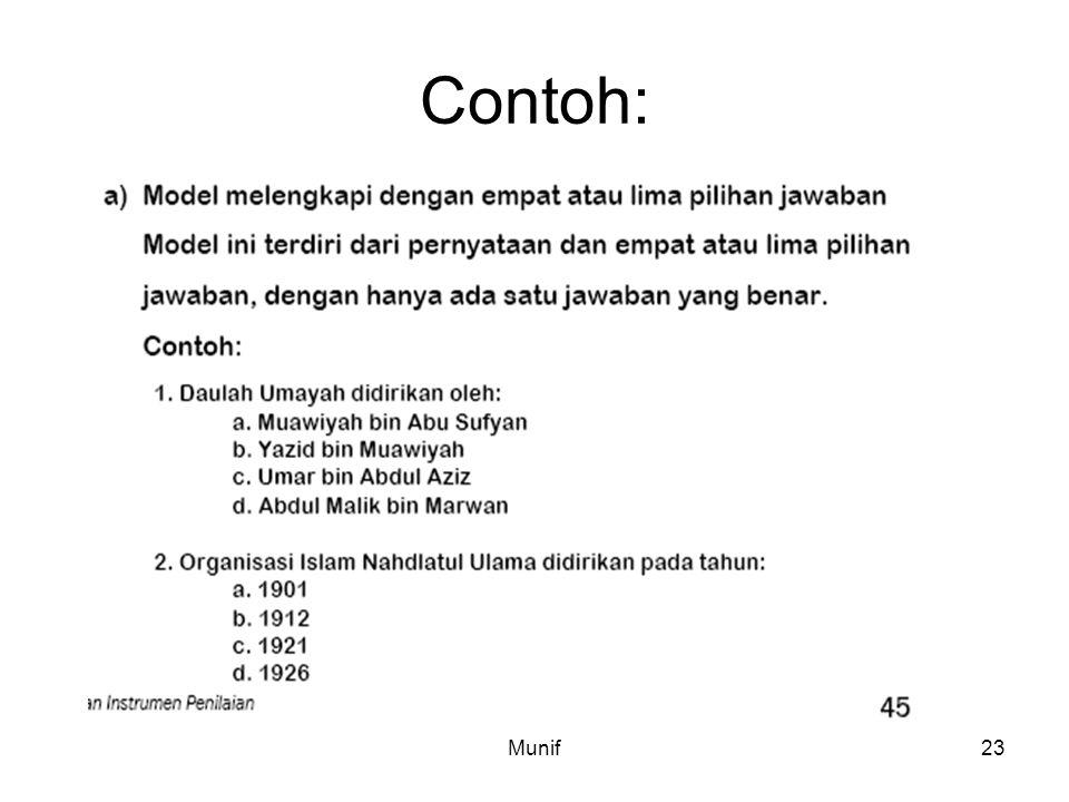 Contoh: Munif