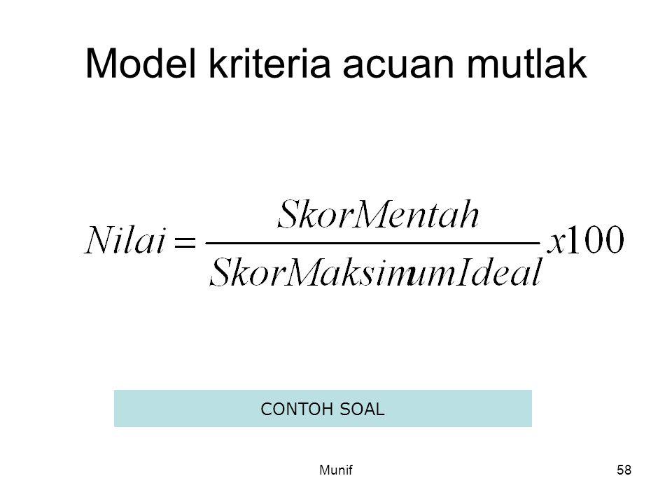 Model kriteria acuan mutlak