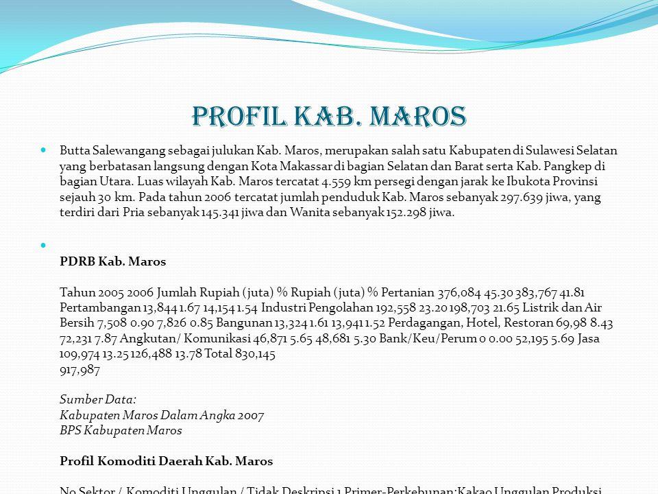 Profil Kab. Maros