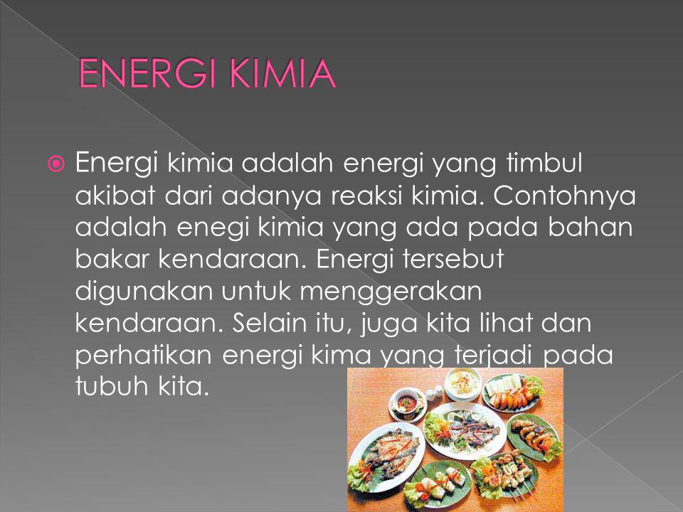 ENERGI KIMIA