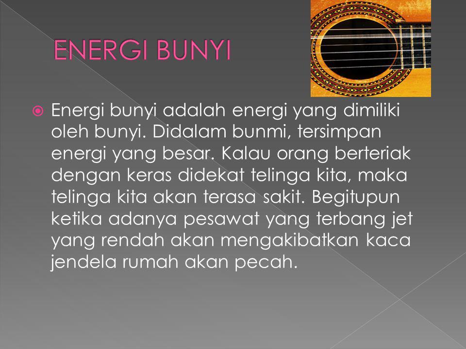 ENERGI BUNYI