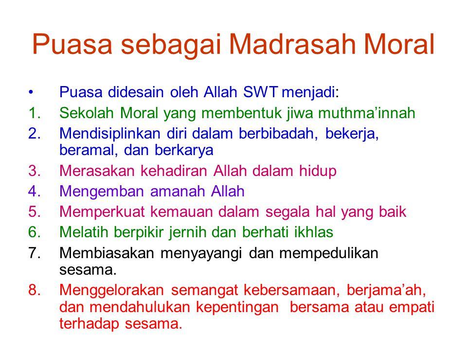 Puasa sebagai Madrasah Moral