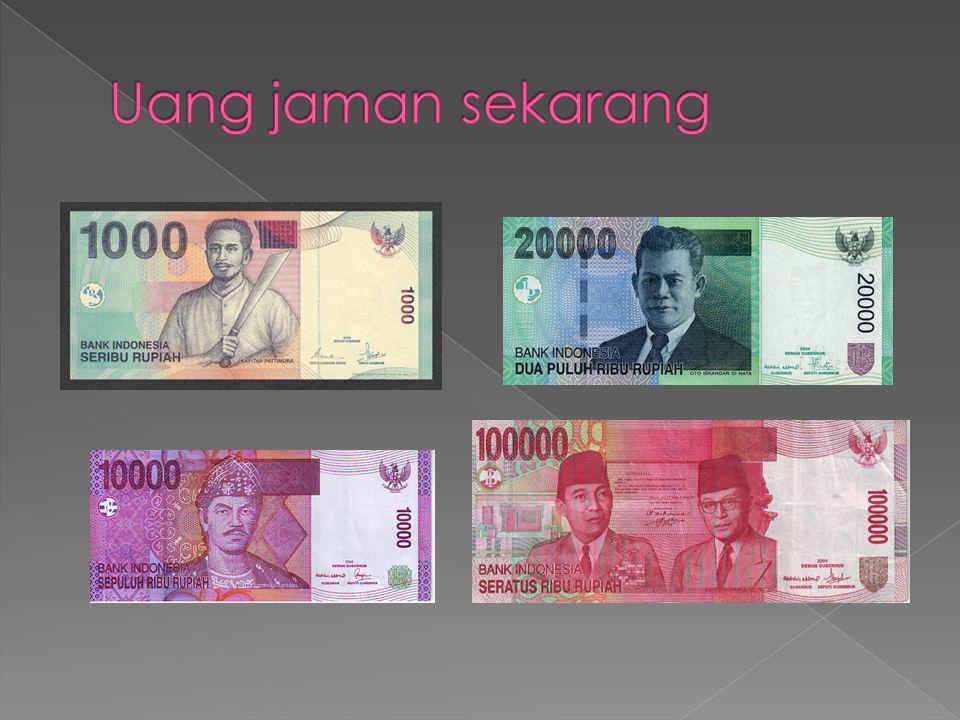 Uang jaman sekarang